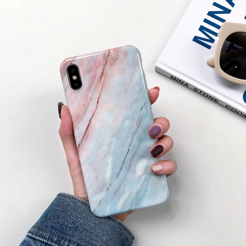 Sunsky Full Coverage Glossy Marble Texture Shockproof Tpu