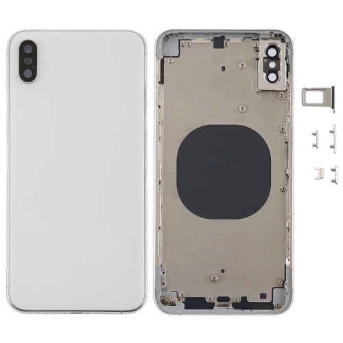 Back Cover with Camera Lens & SIM Card Tray & Side Keys for iPhone XS Max(White)