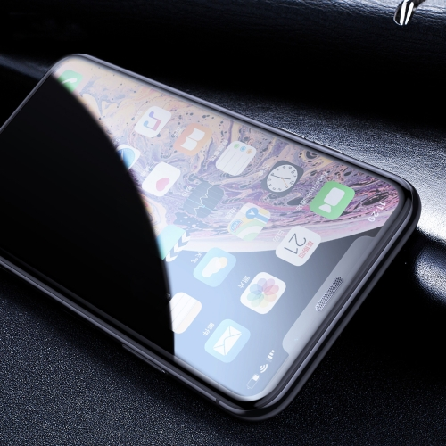 Baseus 0.3mm Full Screen Curved Edge Privacy Anti-glare Cellular Dust Tempered Glass Film for iPhone 11 Pro Max / XS Max