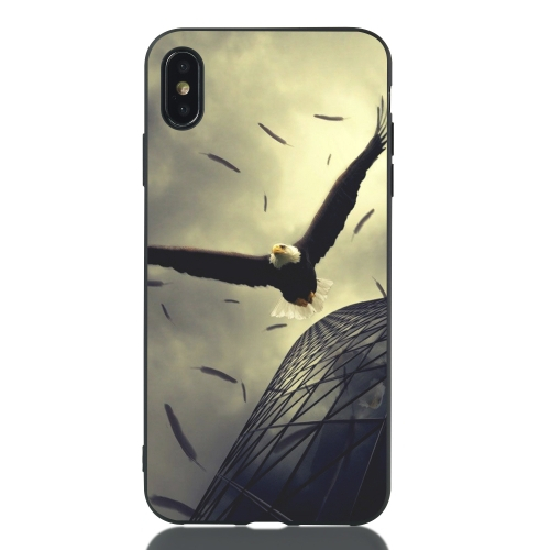 Eagle Painted Pattern Soft TPU Case for iPhone XS Max