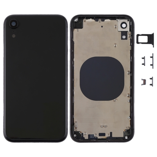 Back Housing Cover with Camera Lens & SIM Card Tray & Side Keys for iPhone XR(Black) фото
