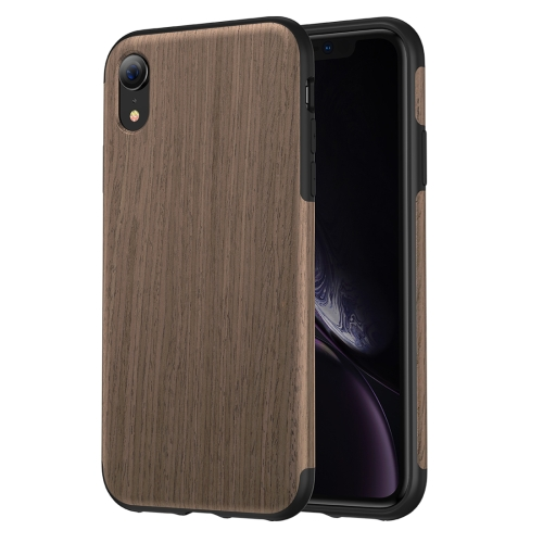 ROCK Black Rose Wood Texture TPU Case for iPhone XR
