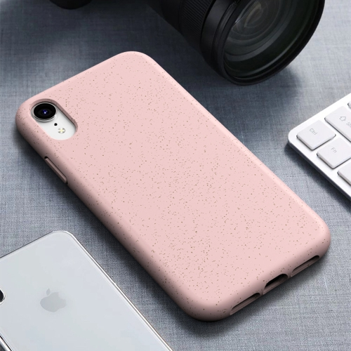 Starry Series Shockproof Straw Material + TPU Protective Case for iPhone XR (Pink) фото