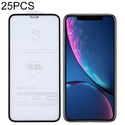 29H 5D Full Glue Full Screen Tempered Glass Film for iPhone XR  - buy with discount