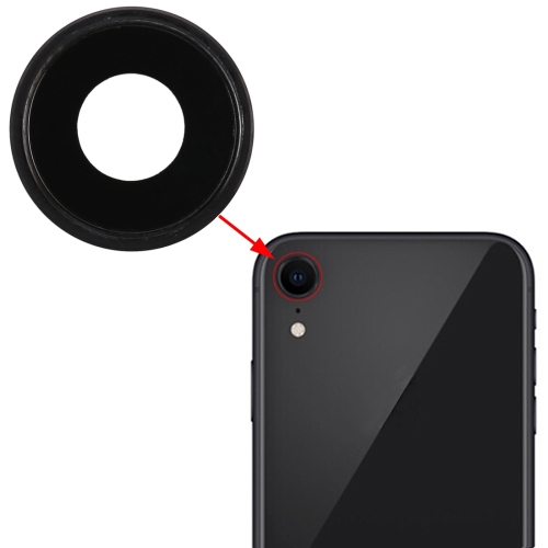 Back Camera Bezel with Lens Cover for iPhone XR(Black)