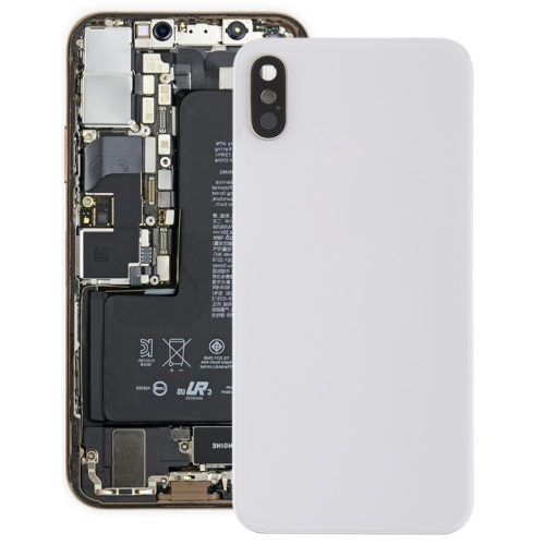 Battery Back Cover with Back Camera Bezel & Lens & Adhesive for iPhone XS(White)