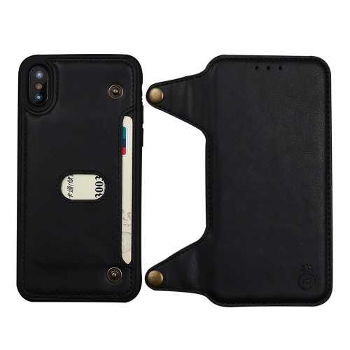 MUSUBO G3 2 in 1 Detachable Horizontal Flip PU Leather Case for iPhone XS / X, with Card Slots & Wallet(Black)