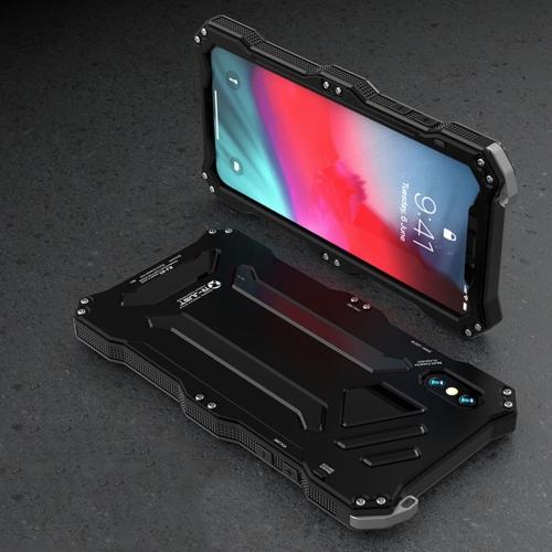 Gundam Rugged Armor Metal + TPU Protective Case for iPhone X / XS(Black)