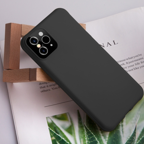 For iPhone XR Creative Solid Color Liquid Silicone Case (Black)