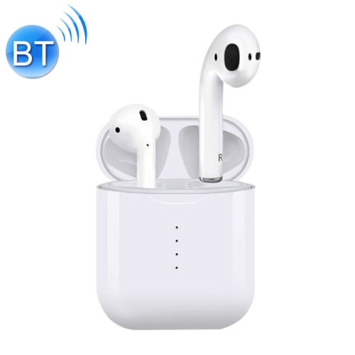 i10 TWS Stereo Portable In-ear Bluetooth V5.0 Smart Touch Control Earphone with Charging Box(White)