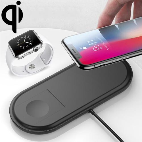 W22 Qi Standard Quick Wireless Charger 2W / 10W, For iPhone, Galaxy, Xiaomi, Google, LG, Apple Watch 3 & 2 & 1 and other QI Standard Smart Phones(Black)