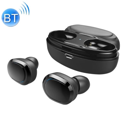 T12 TWS Bluetooth 5.0 Wireless Stereo Sports Earphones with Charging Case (Black)