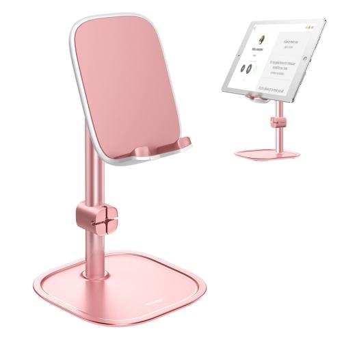 Baseus Universal Adjustable Aluminum Alloy Desktop Stand Holder(Rose Gold)