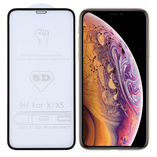 9H 5D Full Glue Full Screen Tempered Glass Film for iPhone X / XS / 11 Pro фото