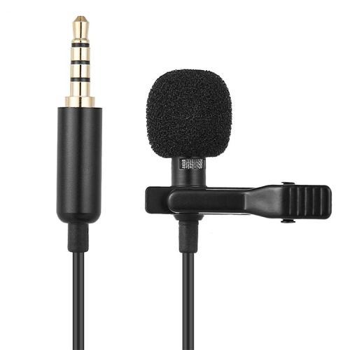 1.5m Lavalier Wired Recording Microphone Mobile Phone Karaoke Mic(Black)