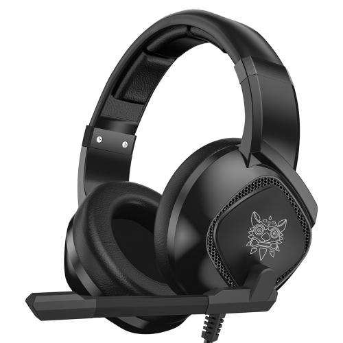 ONIKUMA K19 Single Plug Light Adjustable Gaming Headphone with Microphone(Black)