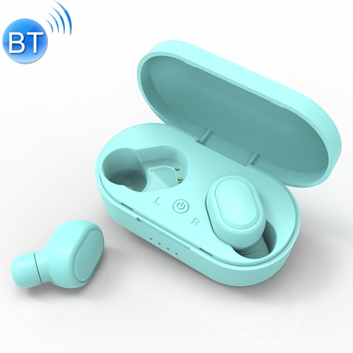 TWS-M1 TWS Bluetooth Earphone with Magnetic Charging Box, Support Memory Connection & Call & Battery Display Function (Green)