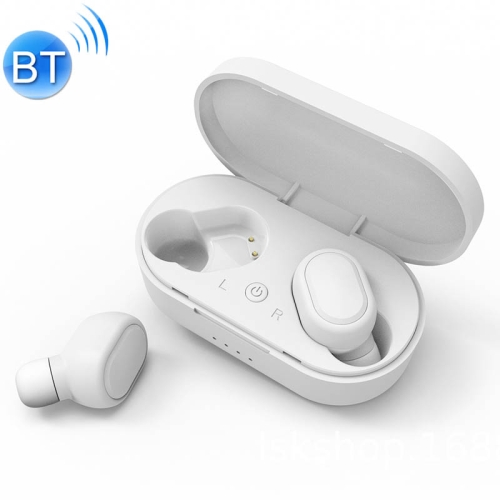 TWS-M1 TWS Bluetooth Earphone with Magnetic Charging Box, Support Memory Connection & Call & Battery Display Function (White)