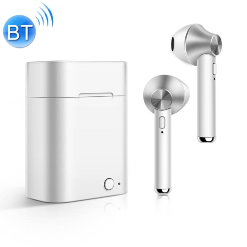 D012 TWS Bluetooth 5.0 Wireless Bluetooth Earphone with Charging Box, Support Voice Prompt & Power Display & HD Call (Silver) фото