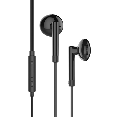 hoco M53 Exquisite Sound Wired Control Earphone with Microphone (Black)