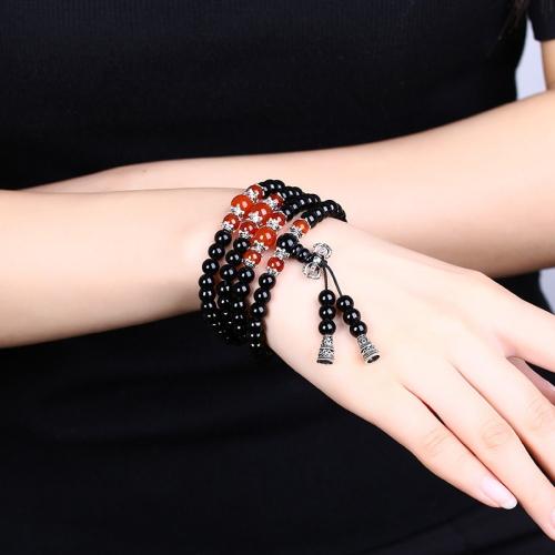 Obsidian Crystal-like Buddhist Rosary Bracelets(Black) buddhist philosophy