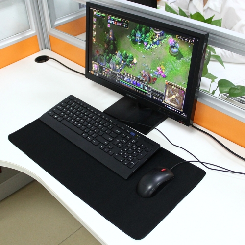Extended Large Solid Black Color Gaming and Office Keyboard Mouse Pad, Size: 60cm x 30cm фото