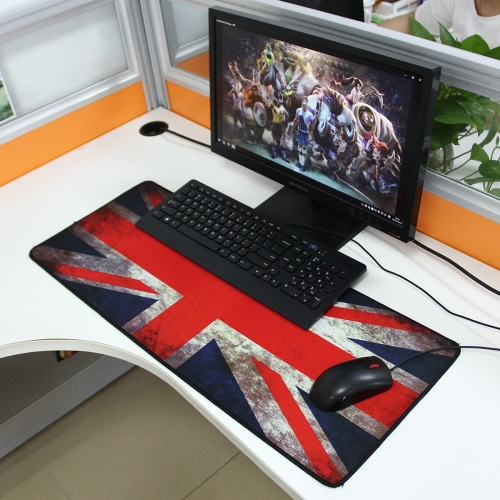 Extended Large UK Flag Pattern Gaming and Office Keyboard Mouse Pad, Size: 70cm x 30cm