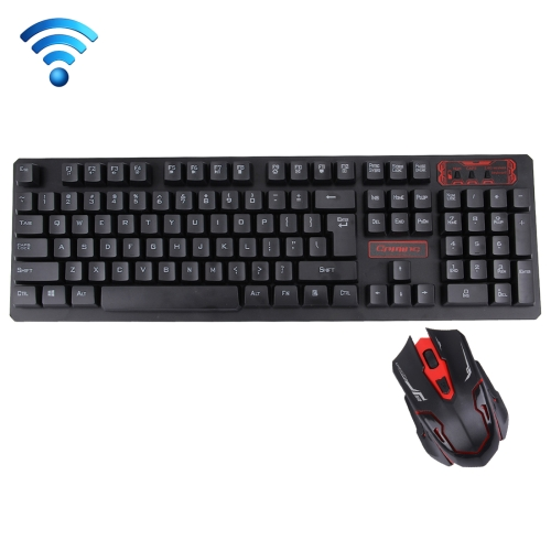 Buy HK6500 2.4GHz Wireless 104 Keys Keyboard + 1600DPI Wireless Optical Mouse with Embedded USB Receiver for Computer PC Laptop, Black for $7.32 in SUNSKY store