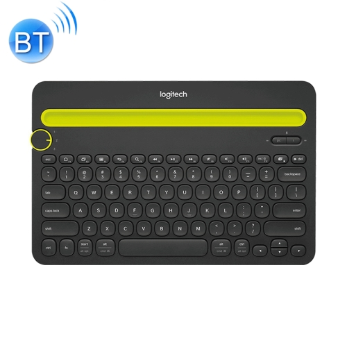 Logitech K480 Multi-device Bluetooth 3.0 Wireless Bluetooth Keyboard with Stand (Black)