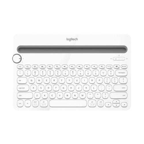 Logitech K480 Multi-device Bluetooth 3.0 Wireless Bluetooth Keyboard with Stand (White)