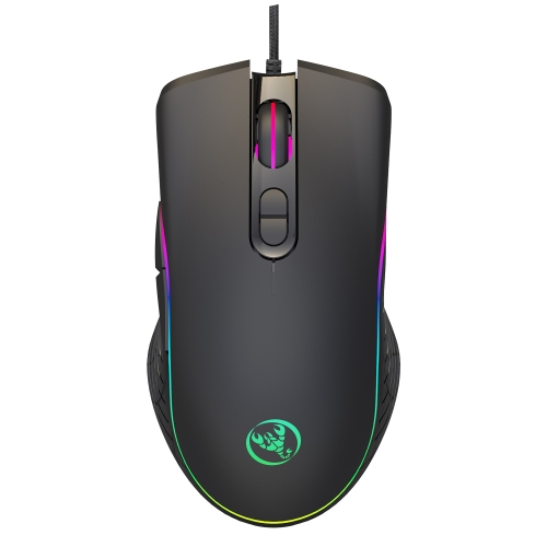 HXSJ A867 USB 6400DPI Four-speed Adjustable RGB Illuminate Wired E-sport Gaming Mouse, Length: 1.5m фото