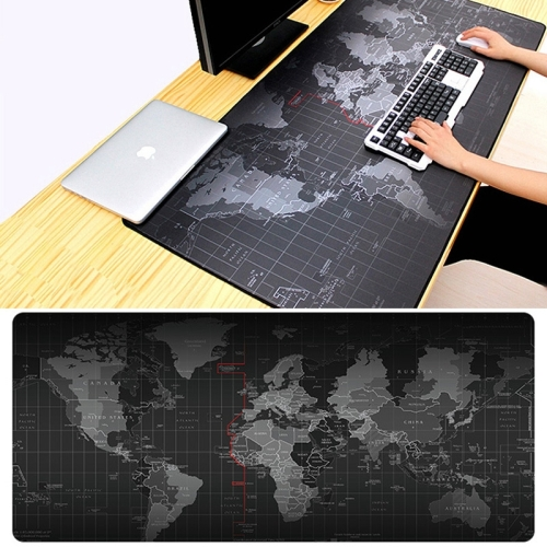 Extended Large Anti-Slip World Map Pattern Soft Rubber Smooth Cloth Surface Game Mouse Pad Keyboard Mat, Size: 60 x 30cm