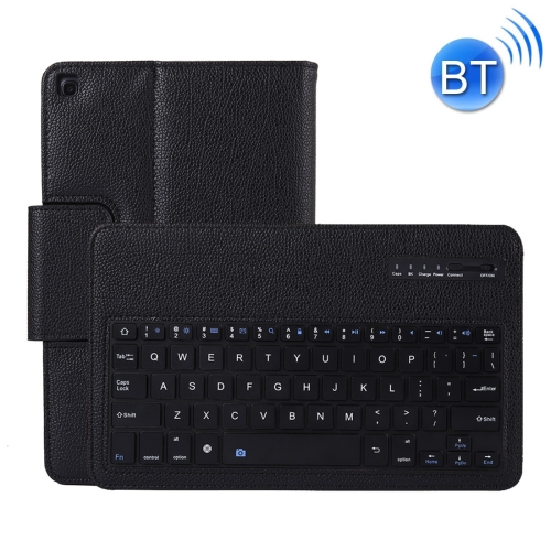 SA510 Detachable Bluetooth Keyboard + Litchi Texture PU Leather Protective Cover with Holder for Galaxy Tab A 10.1 (2019) T510/T515 (Black) фото