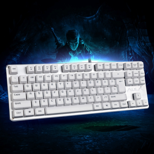 Sunsky Aula F2012 Contractor Series 87 Keys Usb Wired Mechanical Gaming Keyboard White