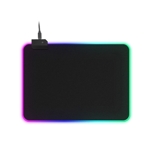 MONTIAN Colorful LED Light Thickening Lock Keyboard Pad Game Mouse Pad, Size: 300 x 250 x 4mm