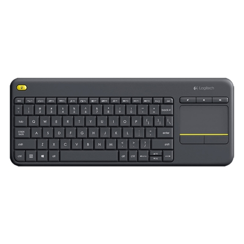 Logitech K400 Plus 2.4GHz Wireless Touch Control Keyboard, Wireless Range: 10m (Black)