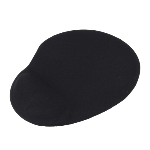 Slim Smooth Microfiber Surface Anti-Slip Silicon Bottom Game Mouse Pad Mat with Bulgy Wrist Placement, Size: 25 x 21 x 1.8cm(Black)