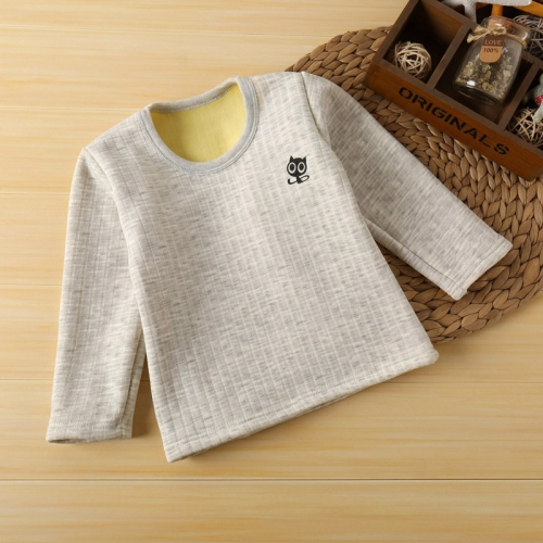 Buy Autumn And Winter New Arrival Stripe with Cat Pattern Plus Velvet Thickening Long Sleeve Keep Warm Children Clothing, Size: 120 for $2.63 in SUNSKY store