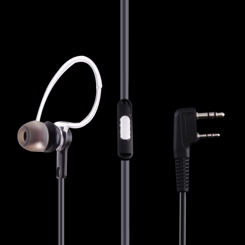 Buy Perfume Ear Hanging Headset with Clip for Walkie Talkies, 3.5mm + 2.5mm Plug, Black for $2.94 in SUNSKY store