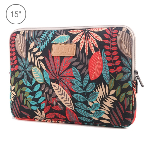 Lisen 15 inch Sleeve Case Ethnic Style Multi-color Zipper Briefcase Carrying Bag, For Macbook, Samsung, Lenovo, Sony, DELL Alienware, CHUWI, ASUS, HP, 15 inch and Below Laptops(Black)