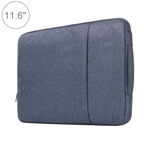 11.6 inch Universal Fashion Soft Laptop Denim Bags Portable Zipper Notebook Laptop Case Pouch for MacBook Air, Lenovo and other Laptops, Size: 32.2x21.8x2cm (Dark Blue)