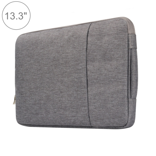 Buy 13.3 inch Universal Fashion Soft Laptop Denim Bags Portable Zipper Notebook Laptop Case Pouch for MacBook Air / Pro, Lenovo and other Laptops, Size: 35.5x26.5x2cm, Grey for $5.01 in SUNSKY store
