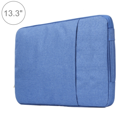 Buy 13.3 inch Universal Fashion Soft Laptop Denim Bags Portable Zipper Notebook Laptop Case Pouch for MacBook Air / Pro, Lenovo and other Laptops, Size: 35.5x26.5x2cm, Blue for $5.01 in SUNSKY store