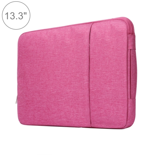Buy 13.3 inch Universal Fashion Soft Laptop Denim Bags Portable Zipper Notebook Laptop Case Pouch for MacBook Air / Pro, Lenovo and other Laptops, Size: 35.5x26.5x2cm, Magenta for $5.01 in SUNSKY store