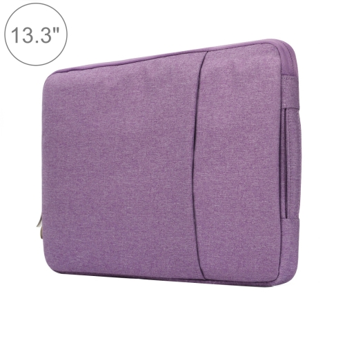 Buy 13.3 inch Universal Fashion Soft Laptop Denim Bags Portable Zipper Notebook Laptop Case Pouch for MacBook Air / Pro, Lenovo and other Laptops, Size: 35.5x26.5x2cm, Purple for $5.01 in SUNSKY store