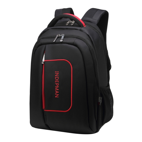 Buy INDEPMAN DL-B015A Fashion Business Style 15 inch Nylon Laptop Notebook Computer Bag Backpack Shoulders Bag with Adjustable S-shaped Shoulder Strap for Men and Women, Size: 33x48x14 cm, Black for $12.01 in SUNSKY store