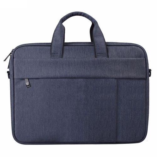 DJ03 Waterproof Anti-scratch Anti-theft One-shoulder Handbag for 13.3 inch Laptops, with Suitcase Belt(Navy Blue)