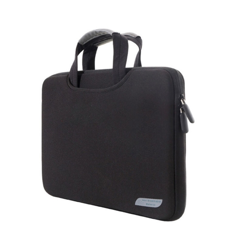 13.3 inch Portable Air Permeable Handheld Sleeve Bag for MacBook Air / Pro, Lenovo and other Laptops, Size: 34x25.5x2.5cm(Black)