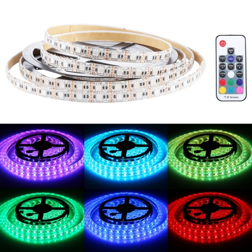 Buy 300 LEDs SMD 5050 USB TV White Board Colorful Light Epoxy Rope Light with 50cm USB Interface Cable & 17 Keys Remote Control, Length: 5m, DC 5V for $8.80 in SUNSKY store