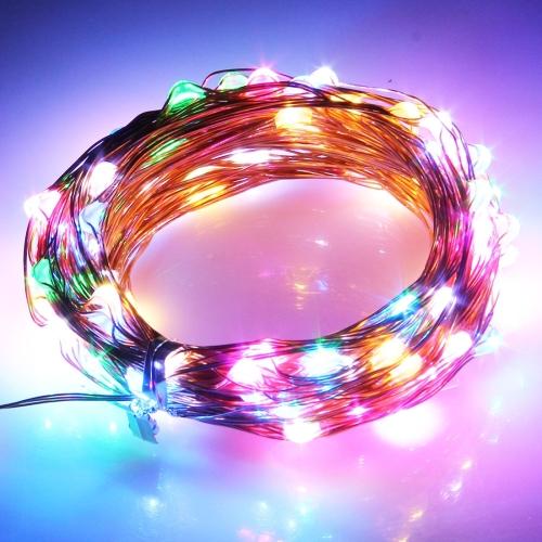 Buy 5m 100 LED SMD 0603 Copper Wire String Decoration Lights / Festival Light, DC 12V (Colorful Light) for $3.71 in SUNSKY store